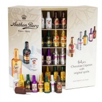 Anthon Berg Liquor Filled Chocolate Bottles: 64-Piece Box